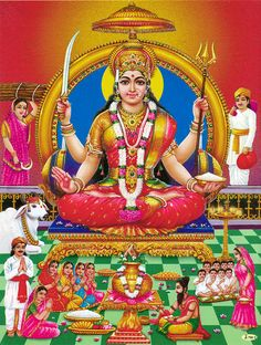 Santoshi Mata (Reprint on Paper - Unframed))