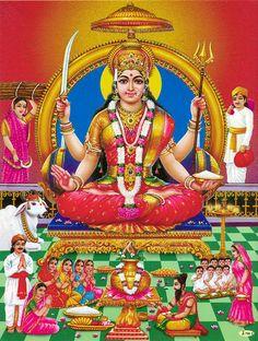 Santoshi Mata (Reprint on Paper - Unframed))