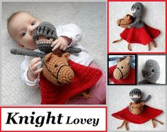 Knight Lovey Crochet Amigurumi Pattern PDF. $3.99, via Etsy. THIS. This is the cutest lovey EVER. Gonna hafta make one - somebody have a kid!