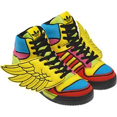 online store 78d1a b100a Wings in Colour by Jeremy Scott - Adidas Originals Adidas Wing Shoes, Jeremy  Scott Wings