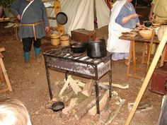 (VERY interesting stove there!) Medieval re-enactment Summer 2011 France (pic heavy)