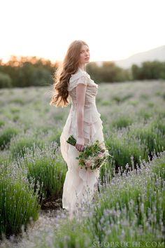 married in a lavender field = <3