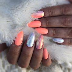 New light orange nails gel 70 ideas Summer Acrylic Nails, Cute Acrylic Nails, Summer Nails, Fabulous Nails, Perfect Nails, Gorgeous Nails, Orange Nails, Pink Nails, Gel Nails