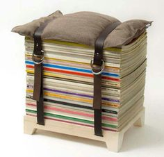 DIY Magazine stool