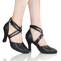 49.28$  Buy here - http://ali9da.worldwells.pw/go.php?t=32518618060 - Dance shoes women leather social dancers black leather shoes Latin square modern dance shoes ballroom dancing women shoes 49.28$