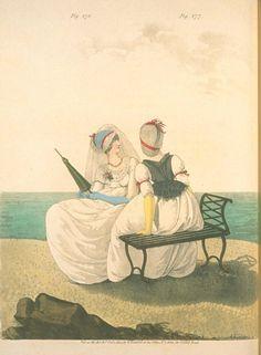 Seaside scene. 1800 Heideloff's gallery of fashion