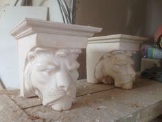 Victorian Lion Corbels  - Plaster of Paris