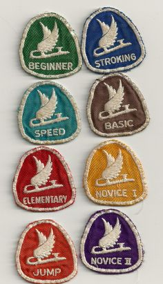 CFSA (Candian Figure Skating Association) badges from the '60's.
