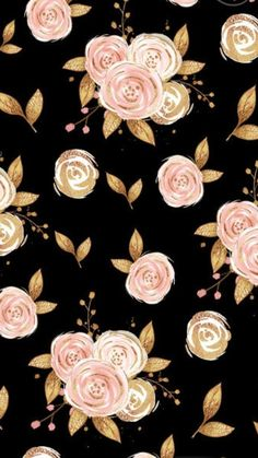love this floral print!You can find Floral prints and more on our website.love this floral print! Flores Wallpaper, Gold Wallpaper, Paper Wallpaper, Print Wallpaper, Wallpaper Backgrounds, Wallpaper Quotes, Paper Flower Patterns, Paper Flowers, Cellphone Wallpaper