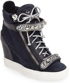 273e0b14bb16 Giuseppe Zanotti Giuseppe for Jennifer Lopez  Tiana  Hidden Wedge Sneaker