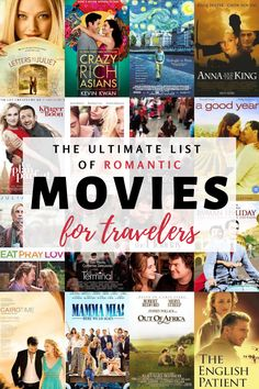 Best Romantic Movies for Travelers - True love stories never go out of style, especially when you add to them a travel spin. Check these top romantic travel movies that will make you live adventures from home. Romance Movies Best, Best Romantic Movies, Romance Film, Travel Movies, Time Travel, Travel Books, Travel Tips, Travel Destinations, Literary Travel