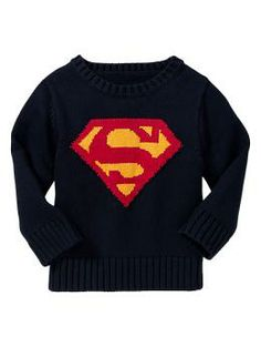 Junk Food™ intarsia superhero sweater | Gap