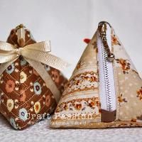 Sewing: Tetrahedron Coin Purse With Zipper