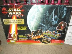 Vintage Board Game -  Star Wars Episode 1 - The Battle For Naboo - 3-D Action  Game -  Sci Fi Outer Space, War Battle Game - Complete! by FriendsRetro on Etsy