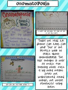 Mrs. Plant's Press: dr. seuss onomatopoeia using Mr. Brown Can Moo, Can you?