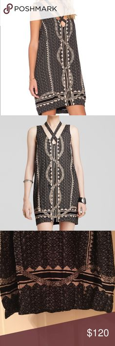 070c5a7e89b5 Free People Dress Super cute Free People dress. It is black with cream  colored snake