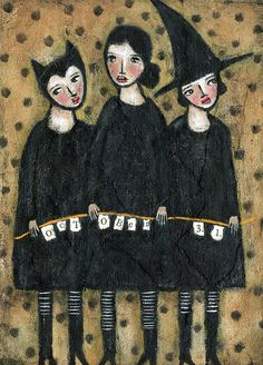 halloween girls by noodle and lou, via Flickr