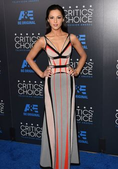 Annet Mahendru in Herve Leger 5th Annual 2015 Critics� Choice Television Awards - FASHION SIZZLE