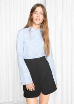 & Other Stories image 2 of Western Shirt in Blue