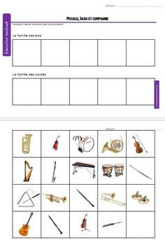 Piccolo, Saxo et Cie --> les familles des instruments - nicole ni papier Instruments, Music Ed, Music Theory, Teaching Music, Ipad, Voici, Activities, School, Music Games