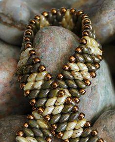 Petite Superduo Band Bracelet Cuff Bracelet Bead Weaving