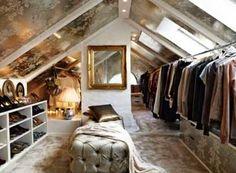 High Fashion Home Blog: Love for Fabulous Attic Spaces!! - me gusta mucho el papel tapiz en el techo!