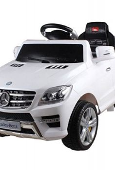 Licensed-Mercedes-ML350-6V-Electric-Ride-on-Kids-Car-with-Remote-White-New-0