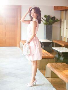 carven cotton dress #Hana Matsushima 松島花
