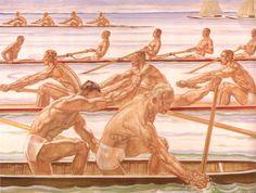 Albert Janesh, Sports aquatiques (1936). Toile faisant référence aux Jeux olympiques de Berlin de 1936.