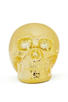 Brains and Bronze Bank  Gold and diamond skull (piggy) bank at Nasty Gal