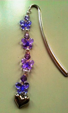 Sweet Butterflies Bookmark Charm by benedettacraftyshop on Etsy, $10.00