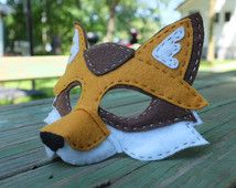 Handstitched Felt Mask, The Fox Mask - Nadelfilzen Ideen Fox Costume, Pinnochio Costume, Felt Crafts, Diy And Crafts, Crafts For Kids, Arts And Crafts, Sewing Crafts, Sewing Projects, Craft Ideas