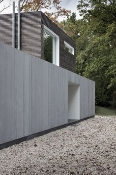 Modern villa in Belgium. arch: Johan Fierens. Wood and EQUITONE fibre cement combined in facade. equitone.com