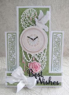 """Hello everyone, DT samples for Tattered Lace.""""Sheer Splendour Collection"""" launching on Create and Craft TV Friday https:/. Create And Craft Tv, Stepper Cards, Tattered Lace Cards, Picture Postcards, Carnations, Hello Everyone, I Card, Pink Flowers, Decoupage"""