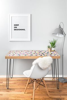 Georgiana Paraschiv Celebration Triangles Desk | DENY Designs Home Accessories