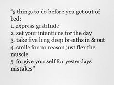 Steps to a great morning :)