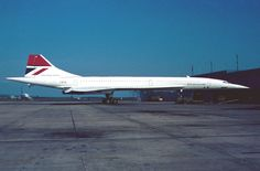 Concorde F-WTSB after the JFK noise test , note the name of the airline missing, just the colors
