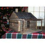 tobacco stick decor | eBay Image 1 **Primitive Handcrafted Tobacco Stick Log Cabin**