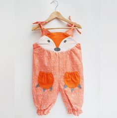 Fox Baby Girl Summer Romper by Wild Things Funky Little Dresses, the perfect gift for Explore more unique gifts in our curated marketplace. Fashion Kids, Toddler Fashion, Fashion Clothes, Baby Outfits, Toddler Outfits, Baby Girl Newborn, Baby Girls, Girl Toddler, Baby Boy