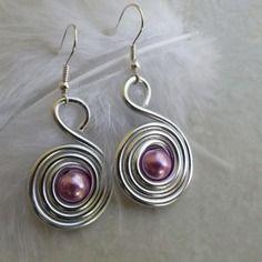 Promo boucles d'oreilles réglisse argenté perle rose bijoux