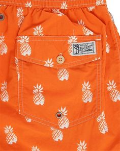 fa5a6a5d0fc0 Maillot de Bain Ananas Orange POLO Ralph Lauren Maillot De Bain Ananas, Short  De Bain