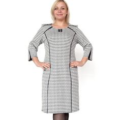 BFDADI Plus size XL-6XL Fashion Weave Pattern O-neck Straight Dress Autumn Winter Simple Style Design Dresses 7-3509  #love #glam #shopping #iwant #fashionista #streetstyle #cool #fashion #styles #ootd