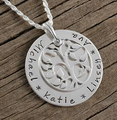 Family Tree  Personalized Name Necklace  by divinestampings, $76.00