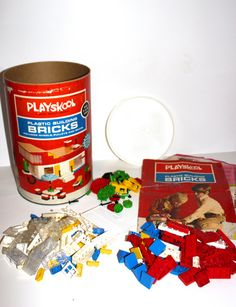 Vintage PLAYSKOOL 1970s Plastic Building by PeppermintandCocoa, $22.00