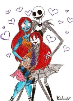 Jack Skellington And Sally | Jack, Sally, and Judy - Jack Skellington Fan Art (15295524) - Fanpop ...