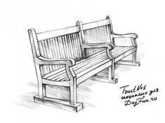 how to draw bench step by step 4