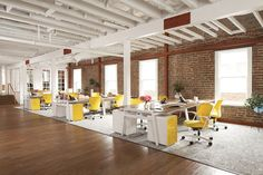 Nice open design space! Posted by NYC Office Suites, 1-800-346-3968, sales@nycofficesu..., www.nycofficesuit... #office#work #meeting