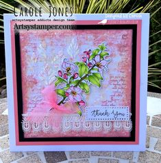 Craftilicious Creations: * Artsystamper: Give Thanks Fusion Card, White Chalk Paint, Pink Cards, Distress Oxides, Spring Blossom, Little My, Copic Markers, Give Thanks, Digital Stamps