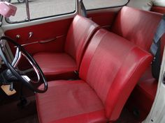 DSC09128_blog / for sale...1965 pearl white beetle with all original red interior