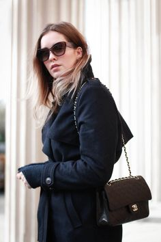 From an all black look I give you an almost blue look today! Hope you like it! Wearing: Won Hundres coat Samsoe Samsoe sweater Acne Jeans Chanel Bag Zara boots Miu Miu sunnies